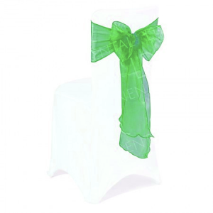 Forest Green Organza Chair Bow