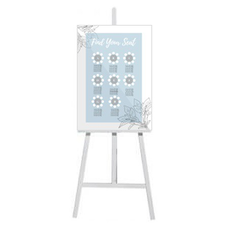 Freestanding White Easel
