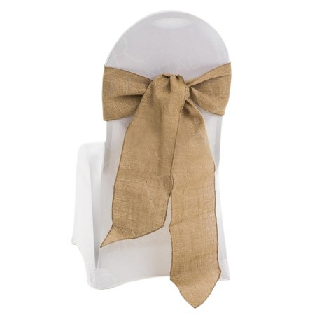 Hessian Chair Bow