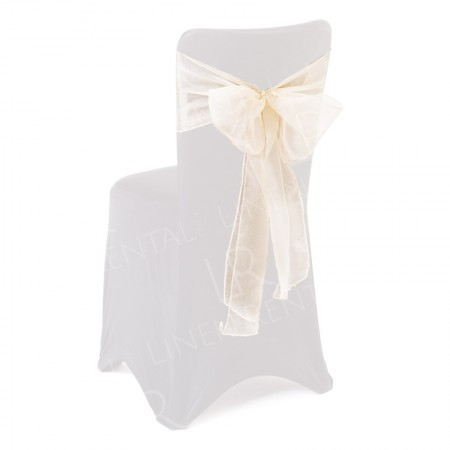 Ivory Organza Chair Bow