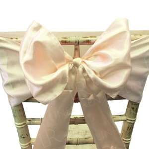 Ivory Satin Chair Bow