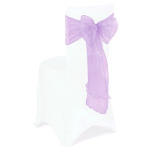 Lilac Organza Chair Bow
