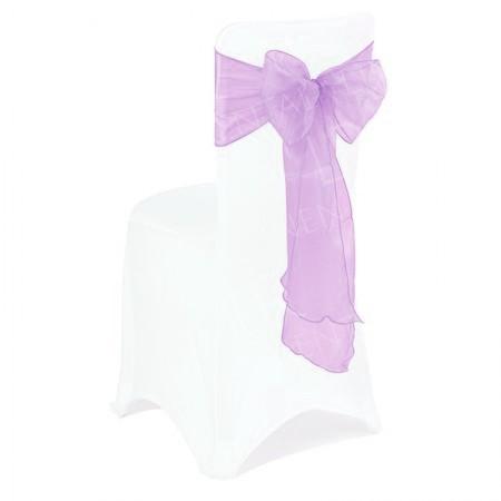 Lilac Organza Chair Bow