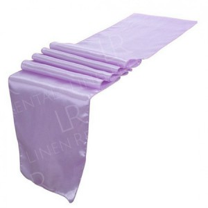 Lilac Satin Table Runner
