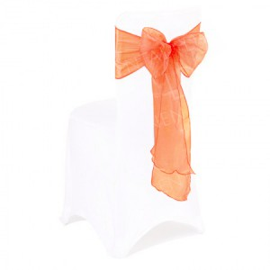 Orange Organza Chair Bow