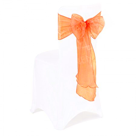 Orange Organza Chair Bow