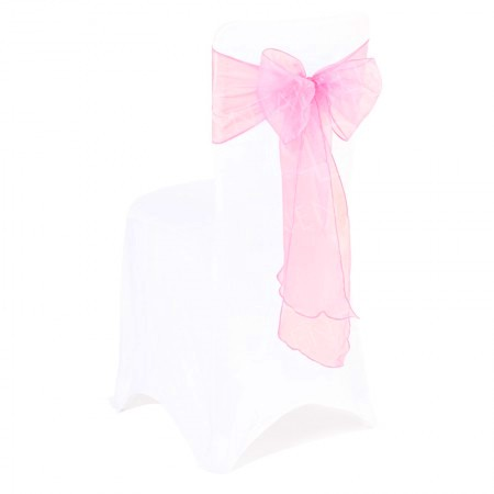 Baby Pink Organza Chair Bow
