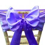 Purple Satin Chair Bow