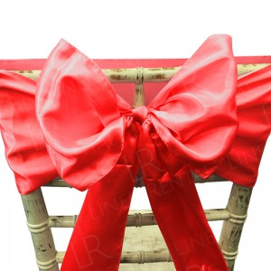 Red Satin Chair Bow