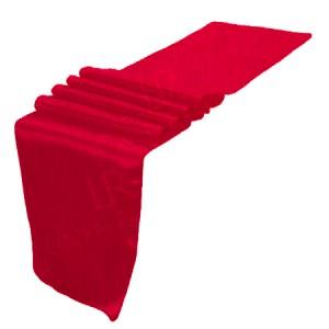 Red Taffeta Table Runner