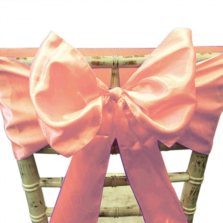 Rose Gold Satin Chair Bow