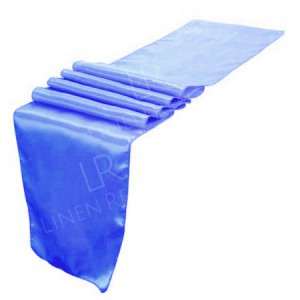 Royal Blue Satin Table Runner