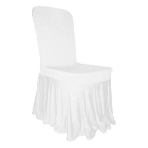 White Skirted Chair Cover