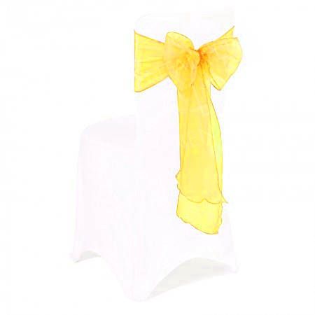Sunflower Yellow Organza Chair Bow