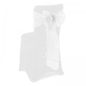 White Organza Chair Bow