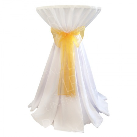 White Poseur Table Cover
