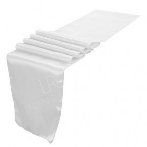 White Satin Table Runner