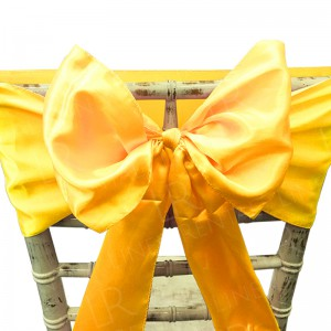 Yellow Gold Satin Chair Bow